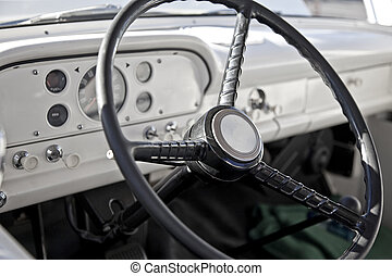 Classic Pickup Truck Interior - Interior of a classic pickup...