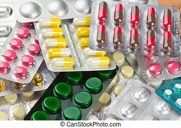 Many tablets or pills