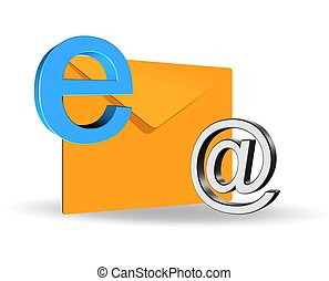 E-mail concept - An illustration of elegant 3d e-mail icoon