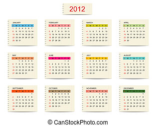 Vector calendar 2012 for your design