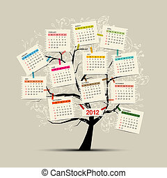 Calendar tree 2012 for your design