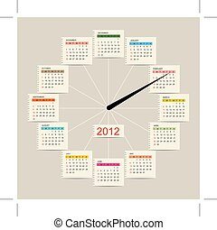 Calendar watch 2012 for your design