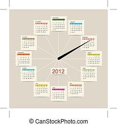 Calendar watch 2012 for your design