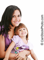 Portrait of a smiling mother and her daughter