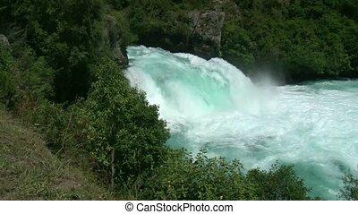 Huka Falls taupo - Huka Falls are a set of waterfalls on the...