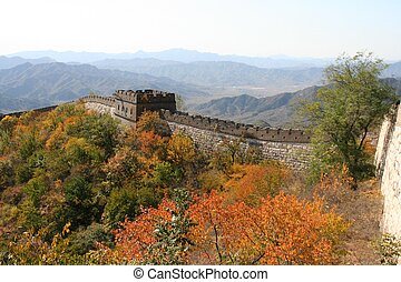 Great Wall of China - A part of the Great Wall of China,...