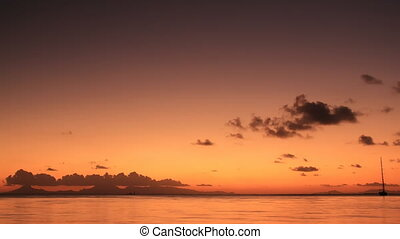Sunset, Huahine - Time Lapse Sunset, Huahine, French...