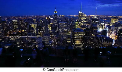 New York City at night, Time Lapse - Top of the Rock...