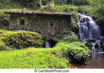 Watermill. - Watermill of Obaya, Villaviciosa, Asturias