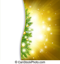 Christmas Background With Gold Stars