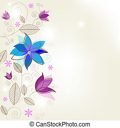 Flower Background - Abstract Flower Background, Vector...