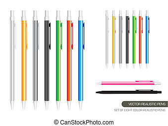 Vector Realistic Pens