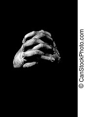 Clasped hands - Hands clasped image with the concept of...