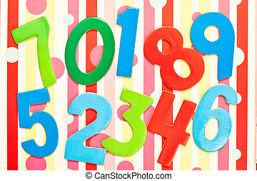 Numbers - Colorful play numbers