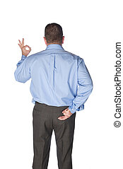 Man giving hand signals - A businessman giving the okay...