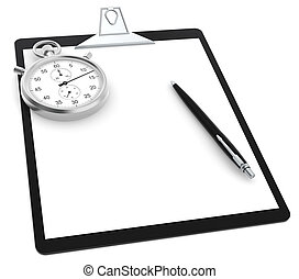 Time and motion study - A Clipboard, Stopwatch and a Pen