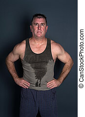 Adulto, medio,  muscular, hombre