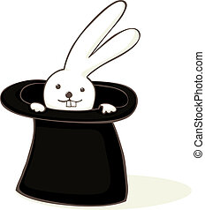 Bunny in a hat. - Cute bunny in a hat cartoon