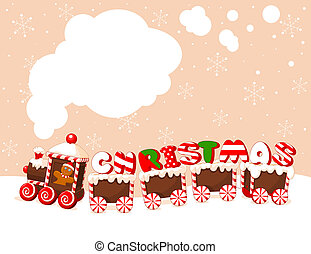 Christmas train background