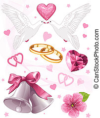 Wedding art - Wedding art for invitations and announcements...