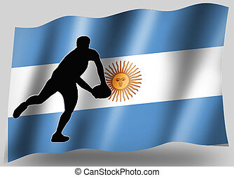 Country Flag Sport Icon Silhouette Argentine Rugby Pass