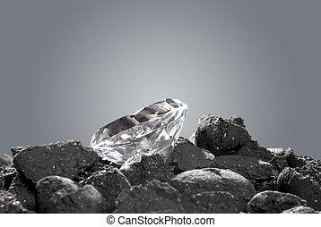 diamante, áspero