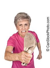 Grandma and slipper