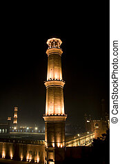 Minaret of Badshahi Mosque (King's Mosque) is one of the...