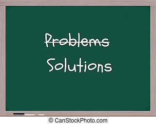 Problems Solutions Chalkboard - A blackboard with the word...