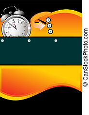 Abstract Background With Clock For Your Text - Abstract...