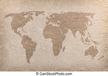 vintage world map paper craft - vintage world map on paper...
