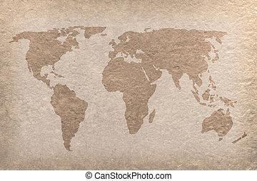 Weinlese, handwerk, Papier, Welt, Landkarte