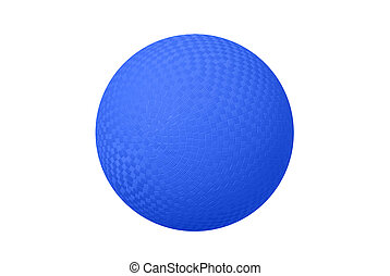 Blue Dodge ball - A classic dodgeball isolated on white...