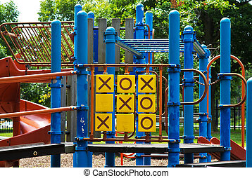 Playground Tic Tac Toe - Playground apparatus for playing...