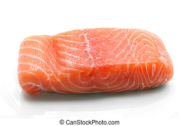 raw salmon fillet - fillet of fresh raw salmon seafood...