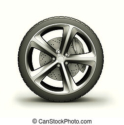 Wheel isolated on white