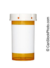 Medicine pill bottle - A medical pill bottle with a blank...
