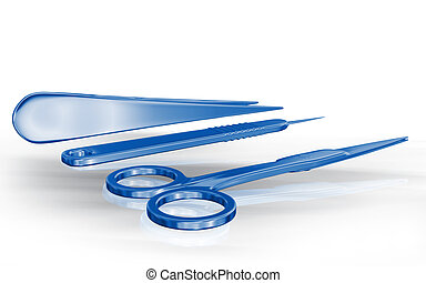 Surgical equipment - Digital illustration of surgical...