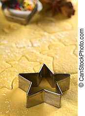 Star-shaped cookie cutter