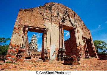 Old temple of Thailand - Ayutthaya ancient ,Thailand