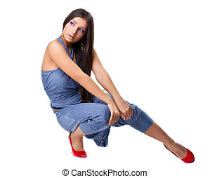 Sexy girl posing in rnb style cloth