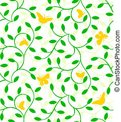 Seamless plants pattern