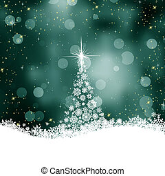 Beautiful winter template card with tree. EPS 8