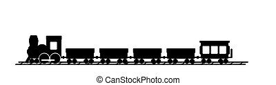 Name train - An illustrated silhouette of a train for room...