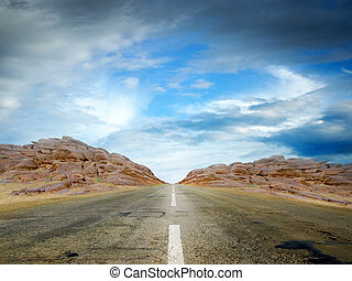 travel background - summer day and road as travel background