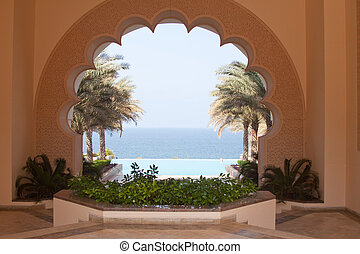 Through The Arch - View over the Arabian Gulf from the...