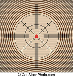 EPS10 crosshair with red dot - illustration