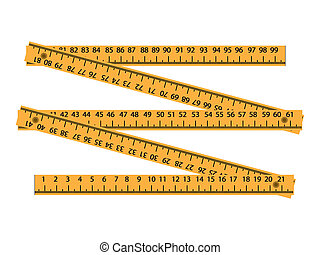 wood meter measuring tool - illustration