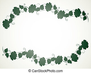 silhouette flowers in line strip - illustration
