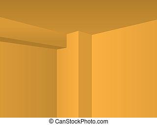 eps10 Perspective light room, corner detail - illustration